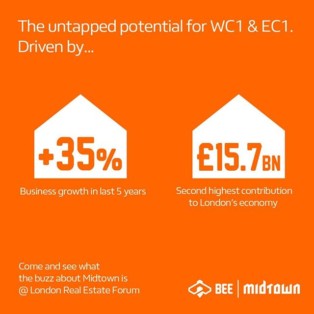 Come and see what the buzz about Midtown is on June 12th! @midtownldn will be joining #LREF to showcase the untapped potential for development in WC1 & EC1 driven by 35% business growth, in an area that is the 2nd highest contributor to London's economy. . . . . #london #property #development #infrastructure #investment #realestate #architecture #engineering #designinspo #urbandesign #londonist #londoner #instacity #design #instalondon #architects #archdaily #archilovers #architecturelovers #architecturegram #architecturedesign #architettura #instarchitecture