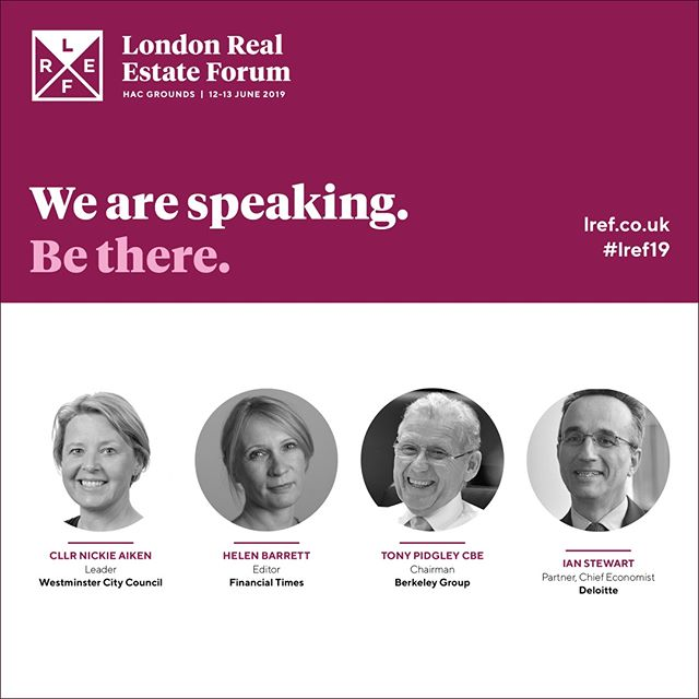 @deloitte's Chief Economist Ian Stewart will open LREF 2019 on the morning of Wednesday 12 June by giving his insight into the current performance and drivers of the London economy, key factors that will affect its future resilience and the likely impacts for the real estate sector. The keynote will be followed by a panel discussion with the following property experts. . @financialtimes, @berkeley_group . . . . #london #property #development #infrastructure #investment #realestate #architecture #engineering #designinspo #urbandesign #londonist #londoner #instacity #design #instalondon #architects #archdaily #archilovers #architecturelovers #architecturegram #architecturedesign #architettura #instarchitecture