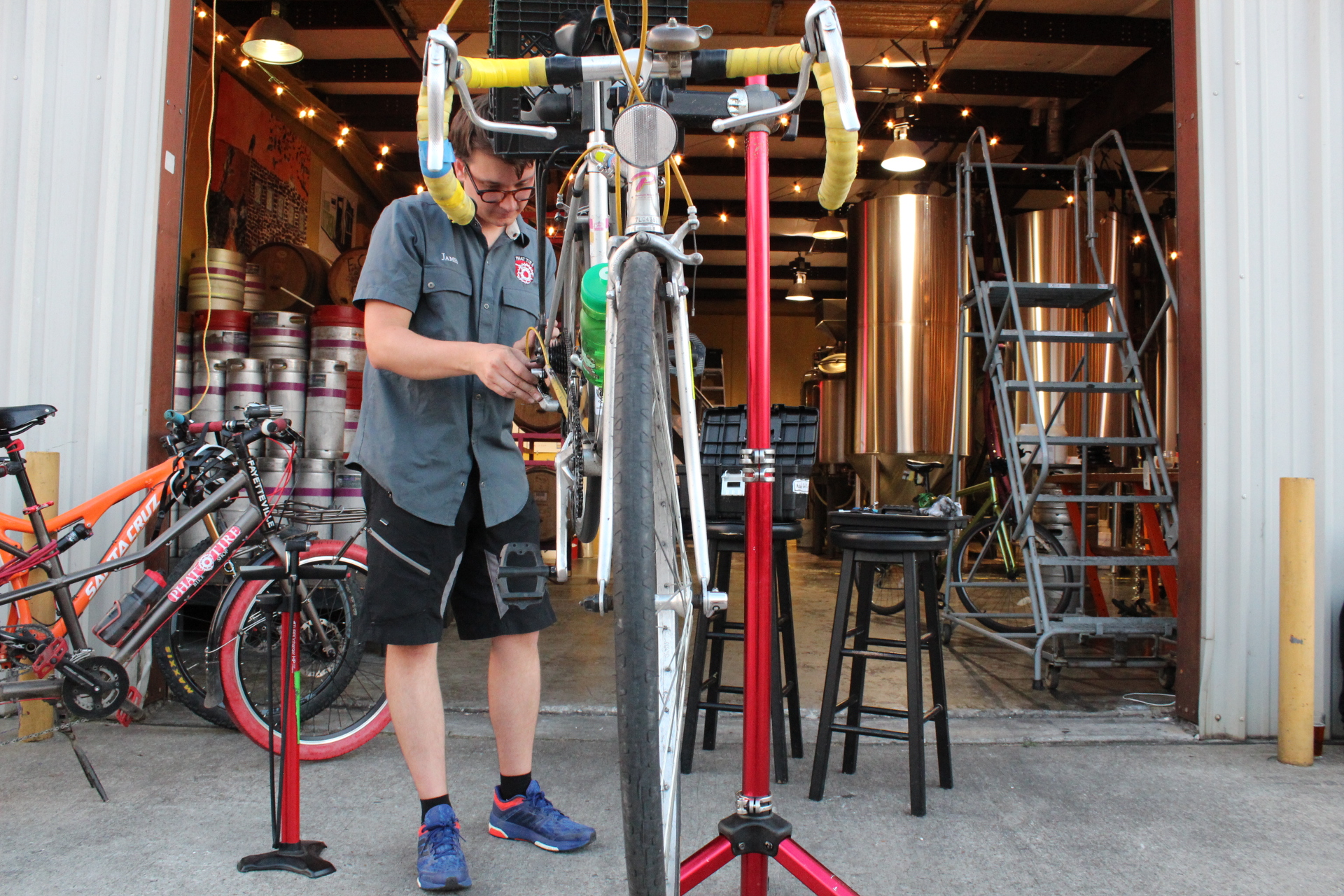 PEDALS & PINTS - Every Thursday during the warm months, we partner with Phat Tire to offer you free bike tune-ups while you enjoy a beer (or two). Pedals and Pints with warmer weather and longer days in April.