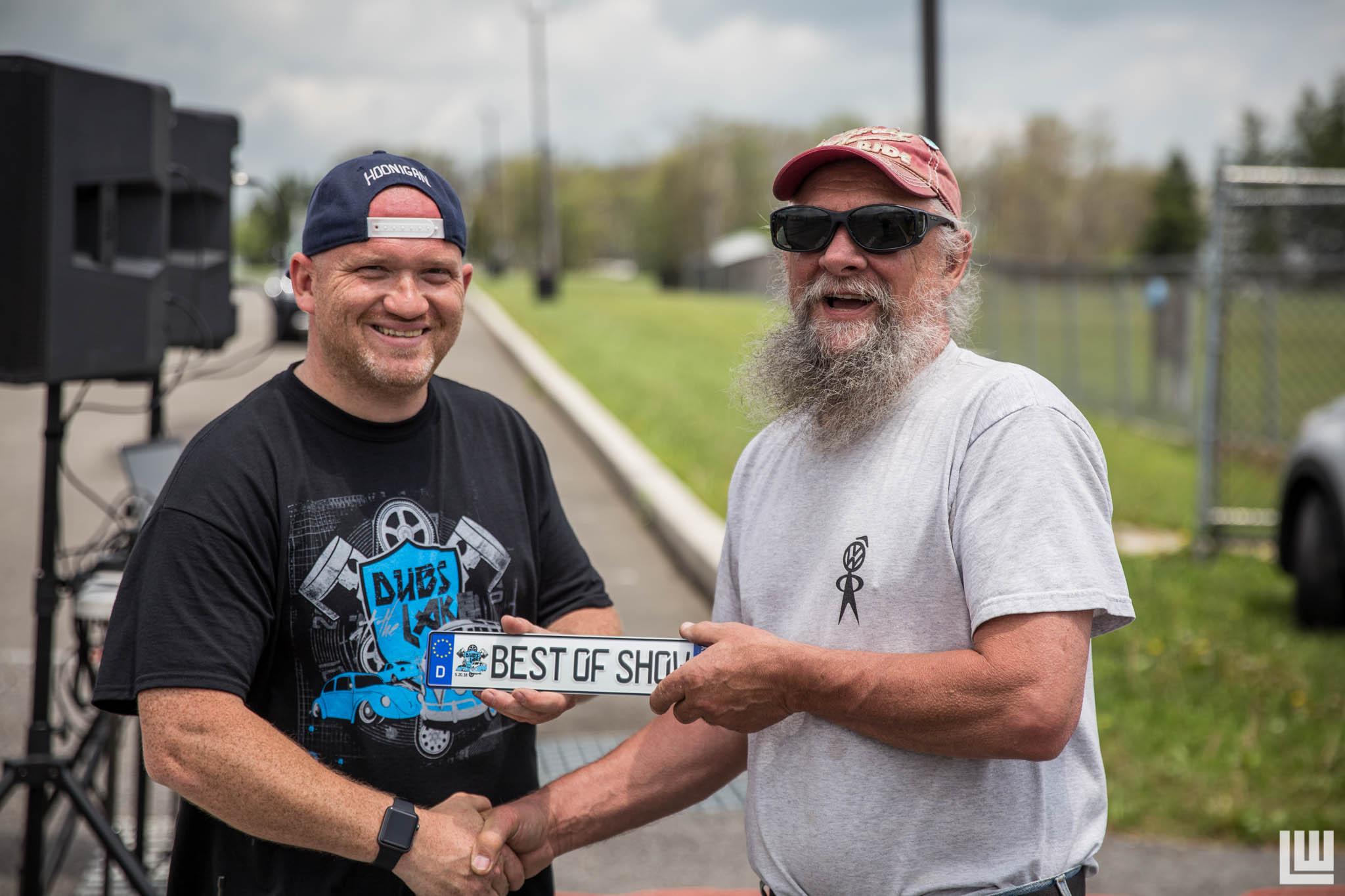Pictured: Left;Jonathan Leyh (Event promoter).   Right; Alvin Ziminsky (Best of show winner)