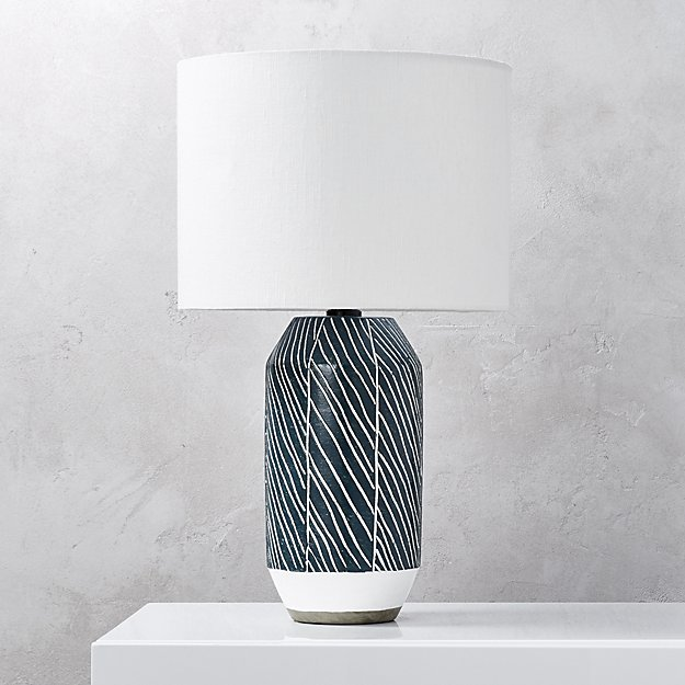 Blue Green Table Lamp - This lamp is a bit more expensive, but MAN is it pretty. I'm a sucker for navy blue + white, and this has the colors and the prettiest details. If you want to invest in a pricier lamp, this one gives me all of the heart eyes. Find it HERE.