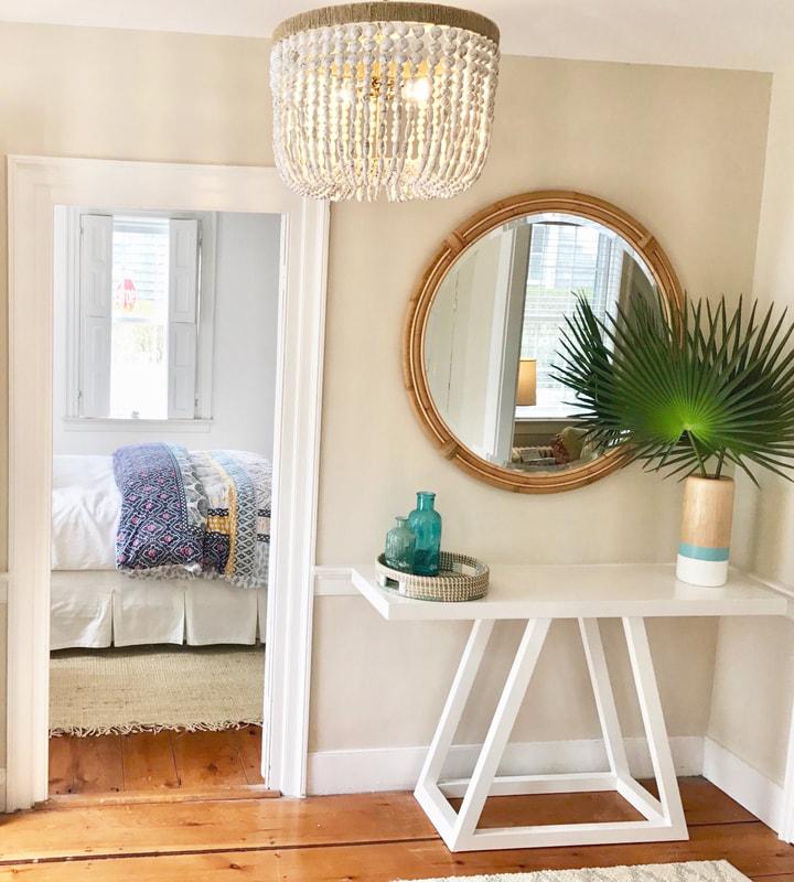 Nantucket Cottage Home Entryway Massachusetts Stephanie Rae Interiors Design