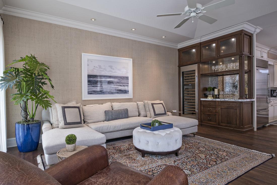 Lost Tree Living Room Bar Kitchen Florida Stephanie Rae Interiors Design