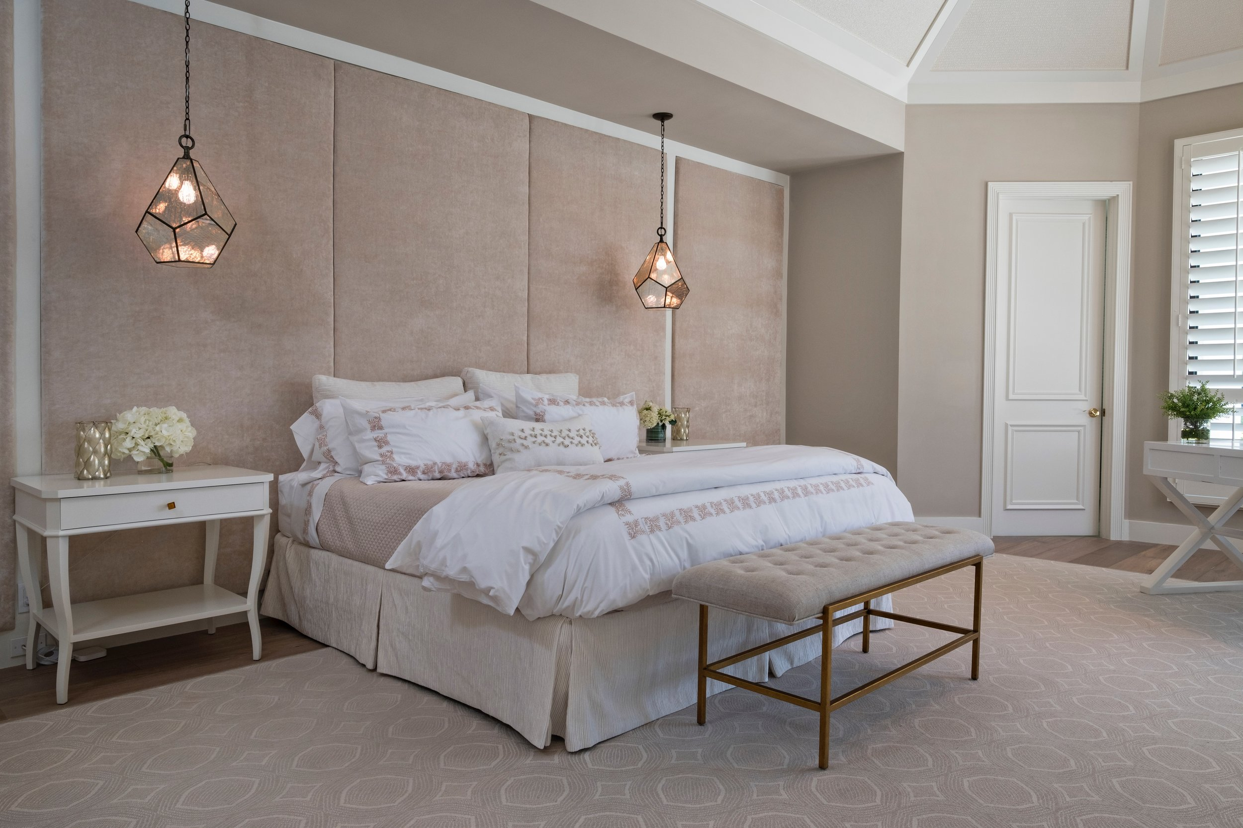 Jupiter Hills Master Bedroom Florida Stephanie Rae Interiors Design