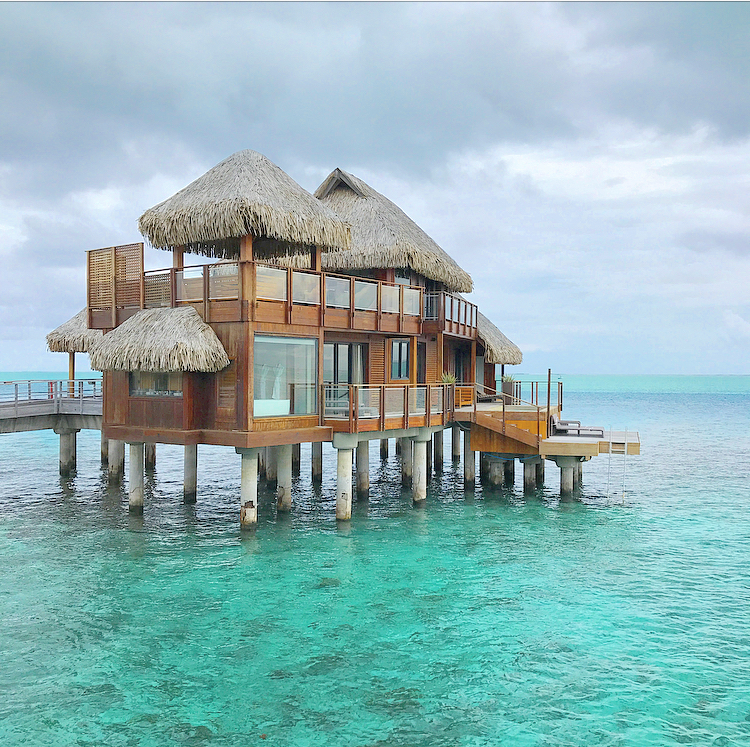 Two storys, one AMAZING over-water villa