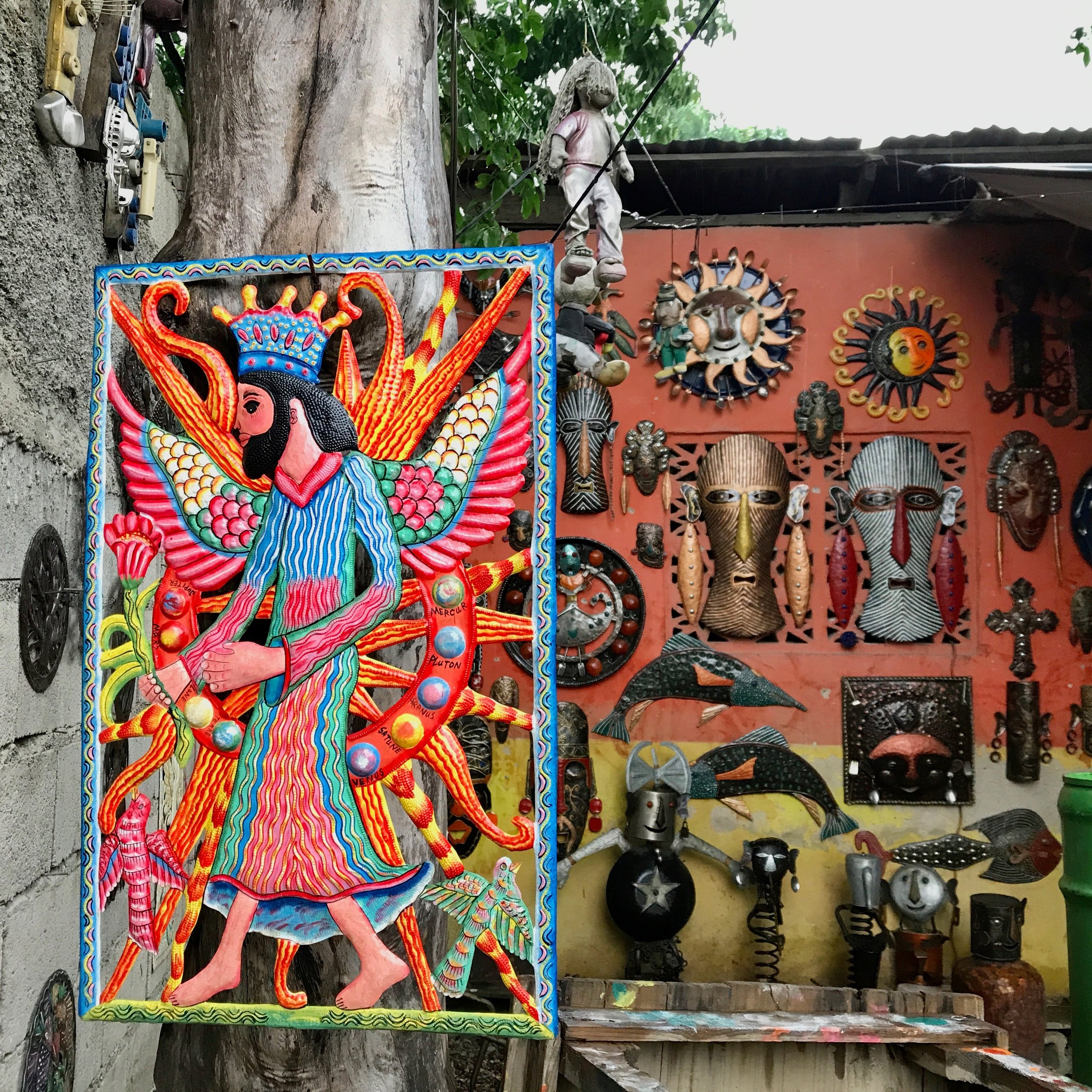 In Haiti, oil drums, bottle tops and spoons become art