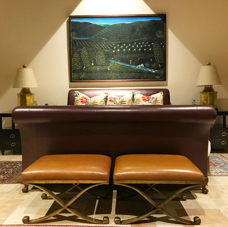 One of the handsome suites at Quintessence