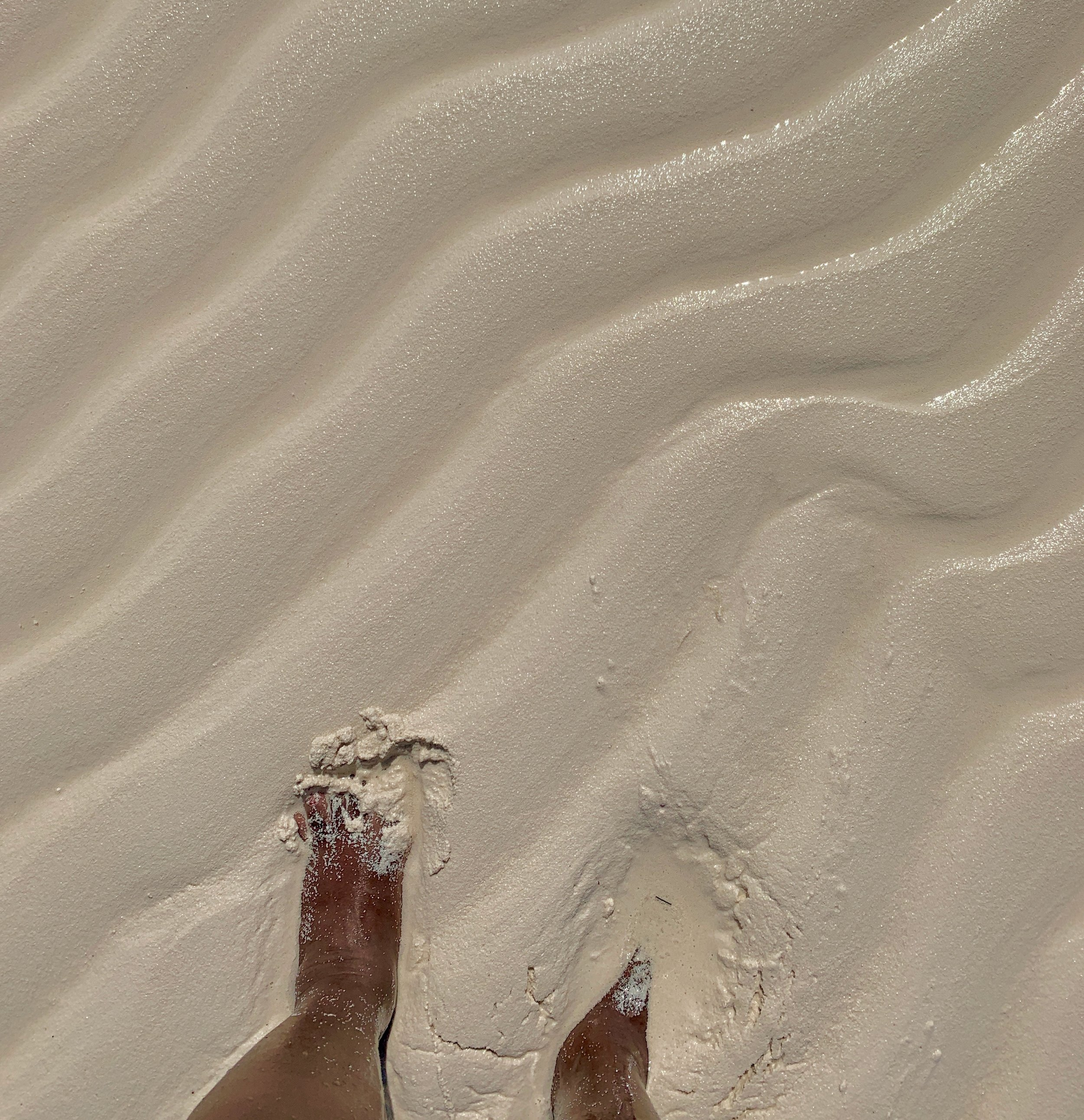 Can you believe this sand?!