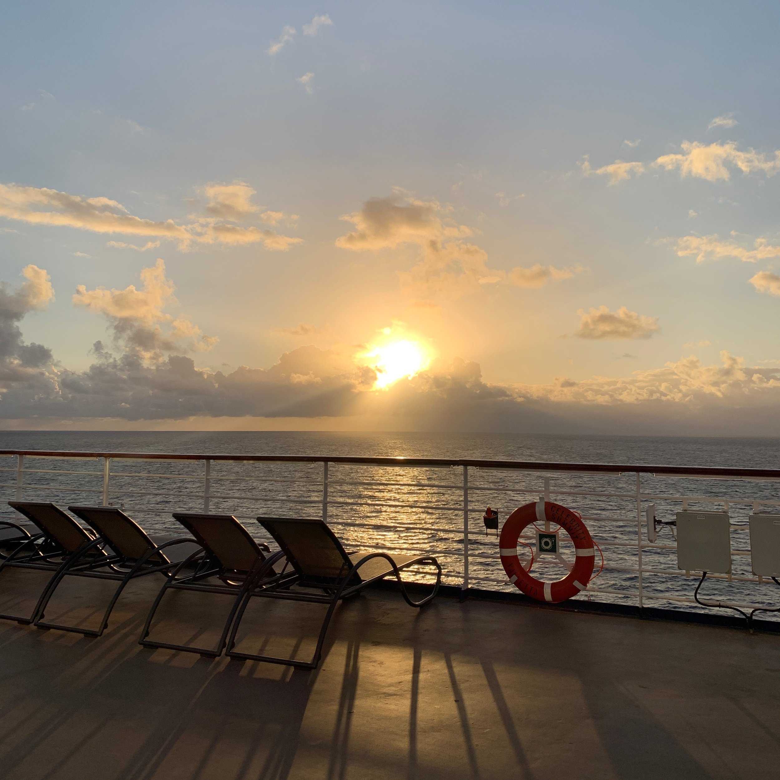 Sunrise at sea is always worth waking up for, don't you think?