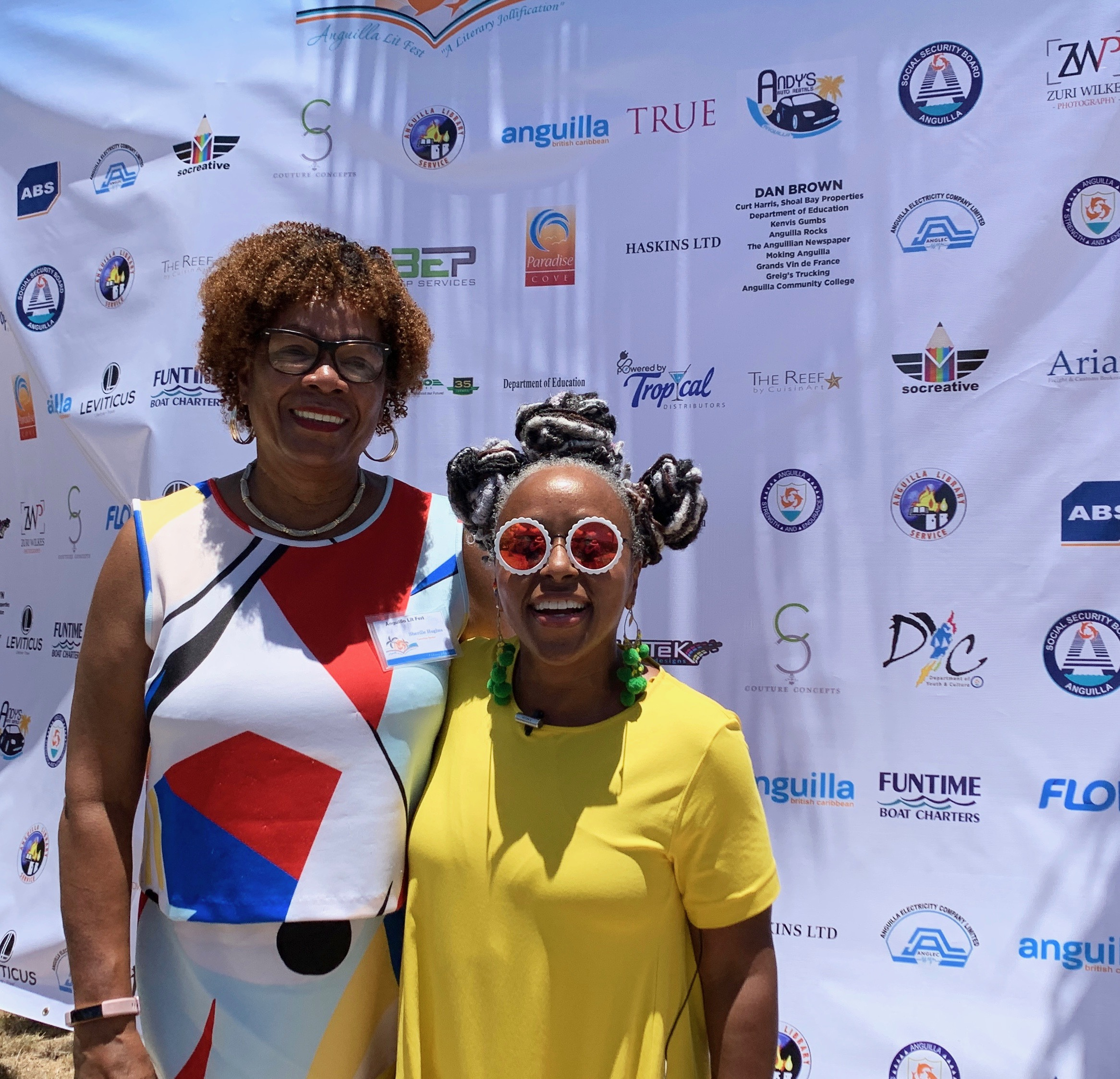 Hanging with Anguilla Lit Fest chair Sherille Hughes