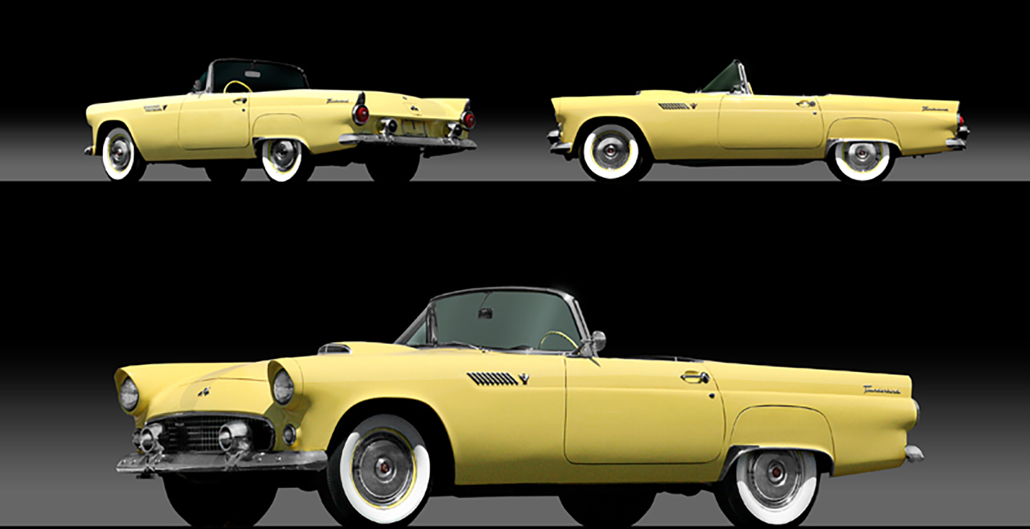 1955 Ford Thunderbird Convertible Chicago Vintage Motor Carriage