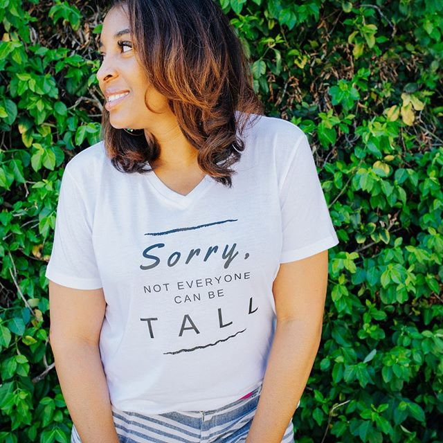 """SORRY, not everyone can be TALL!"" 🤗💋 #clicktoshop -- How do you embrace YOUR height? 🤔👀 -- We want our audience to always look and feel their best! Drop some tips below on how you feel YOUR best to help inspire some other Height Goddess'! ✨😍👇 ____ ⠀⠀⠀⠀⠀⠀⠀⠀⠀ #tuesdaymood #talltuesday #tallgirlthoughts #tallgirlhumor #sorrynotsorry #iwokeuplikethis #tallgirlsolutions #tallstyle #tallfashion #beproudofyourheight #everytallgirl #tallgirl #tallgirls #tallwomen #talltribe #tall #tallwoman #graphicteeoutfits #graphicteesforwomen #graphicteesarelife #lookoftheday #tallgirlmagic #tallgirlstyle #teamtall #tallandproud #ownit #lovetall #heightgoddess #tallneverlookedsogood"