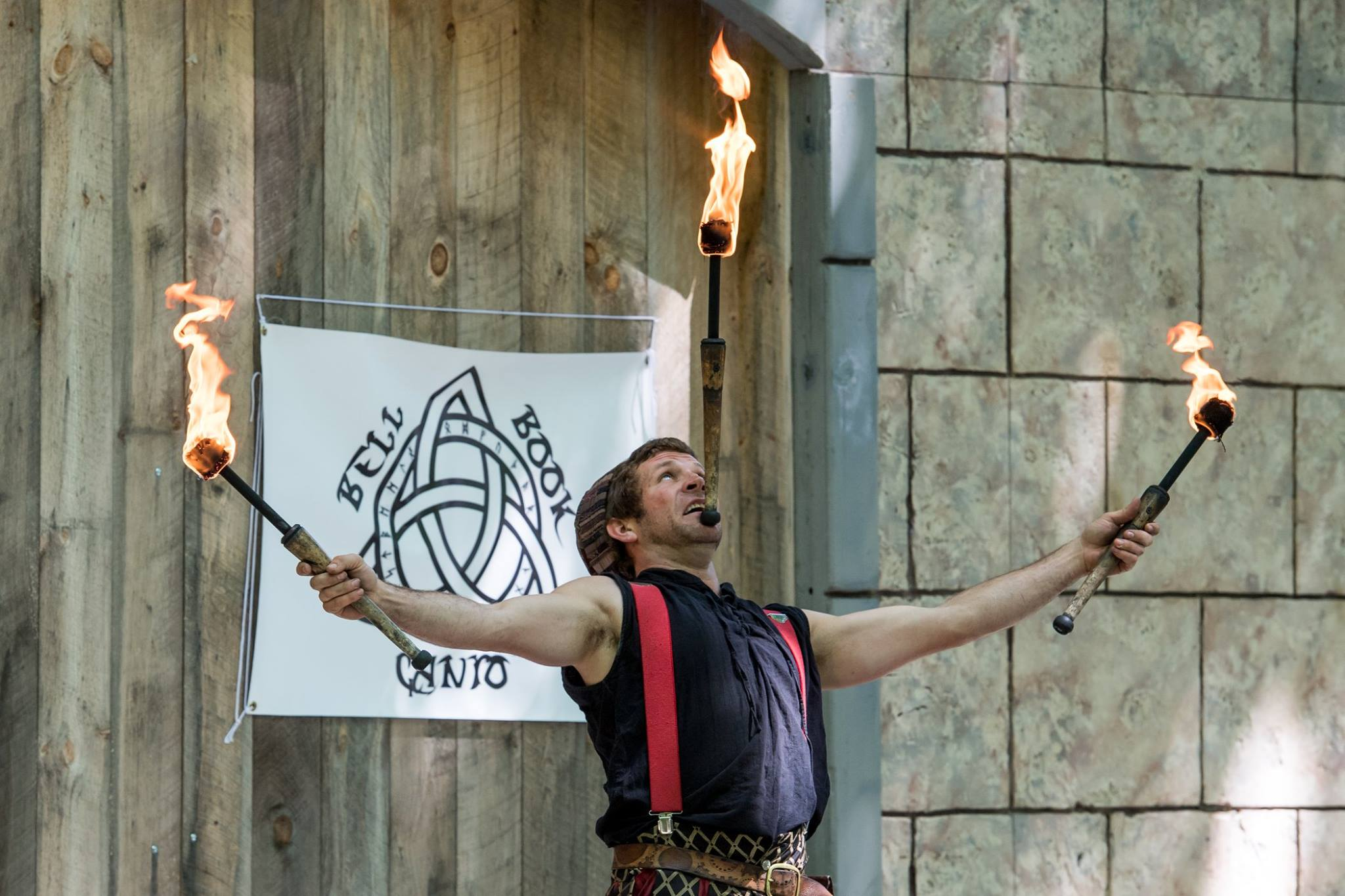 Fire Jugglers at the Door County Renaissance Faire