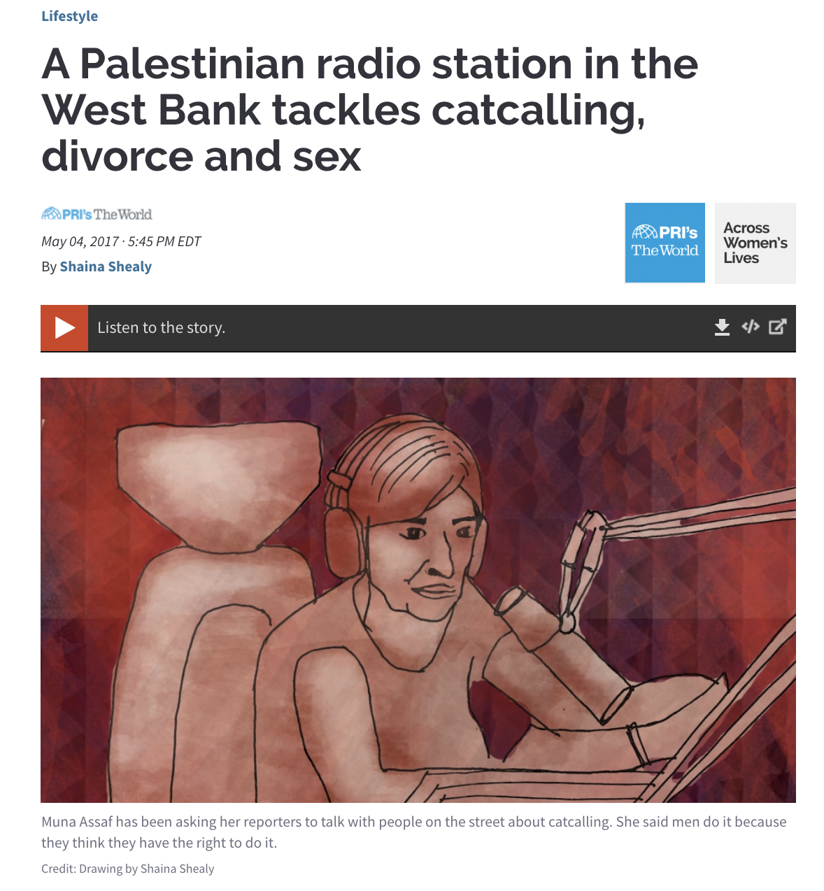 Palestinian radio station tackles cat calling, divorce and sex