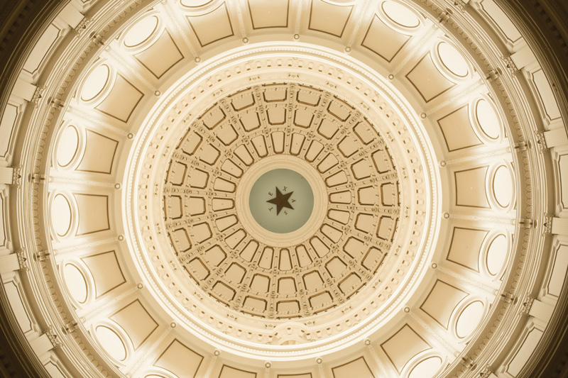 Texas Capitol Rotunda - Texas Silver Bar Inspiration