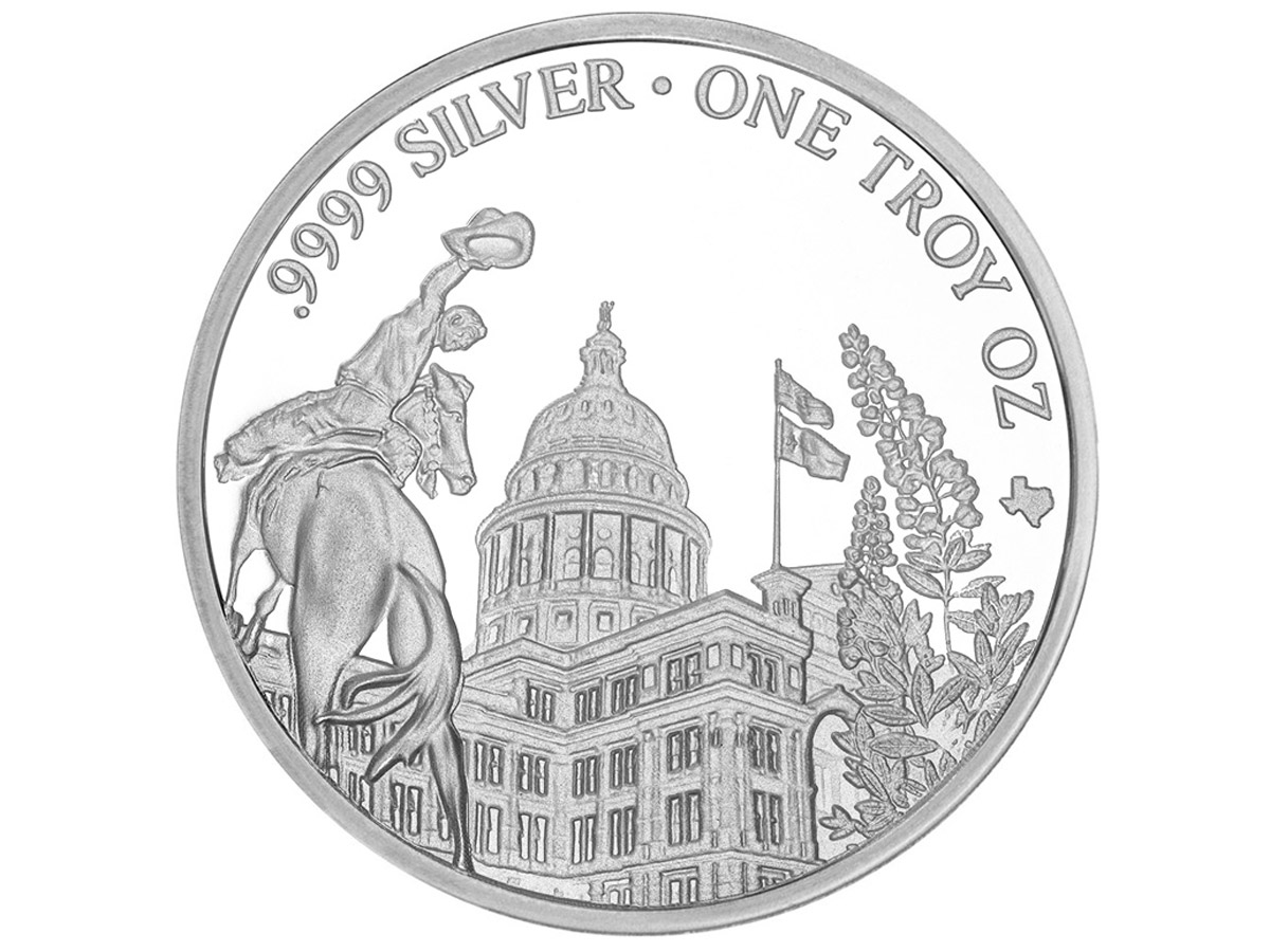 Texas Silver Round - Back