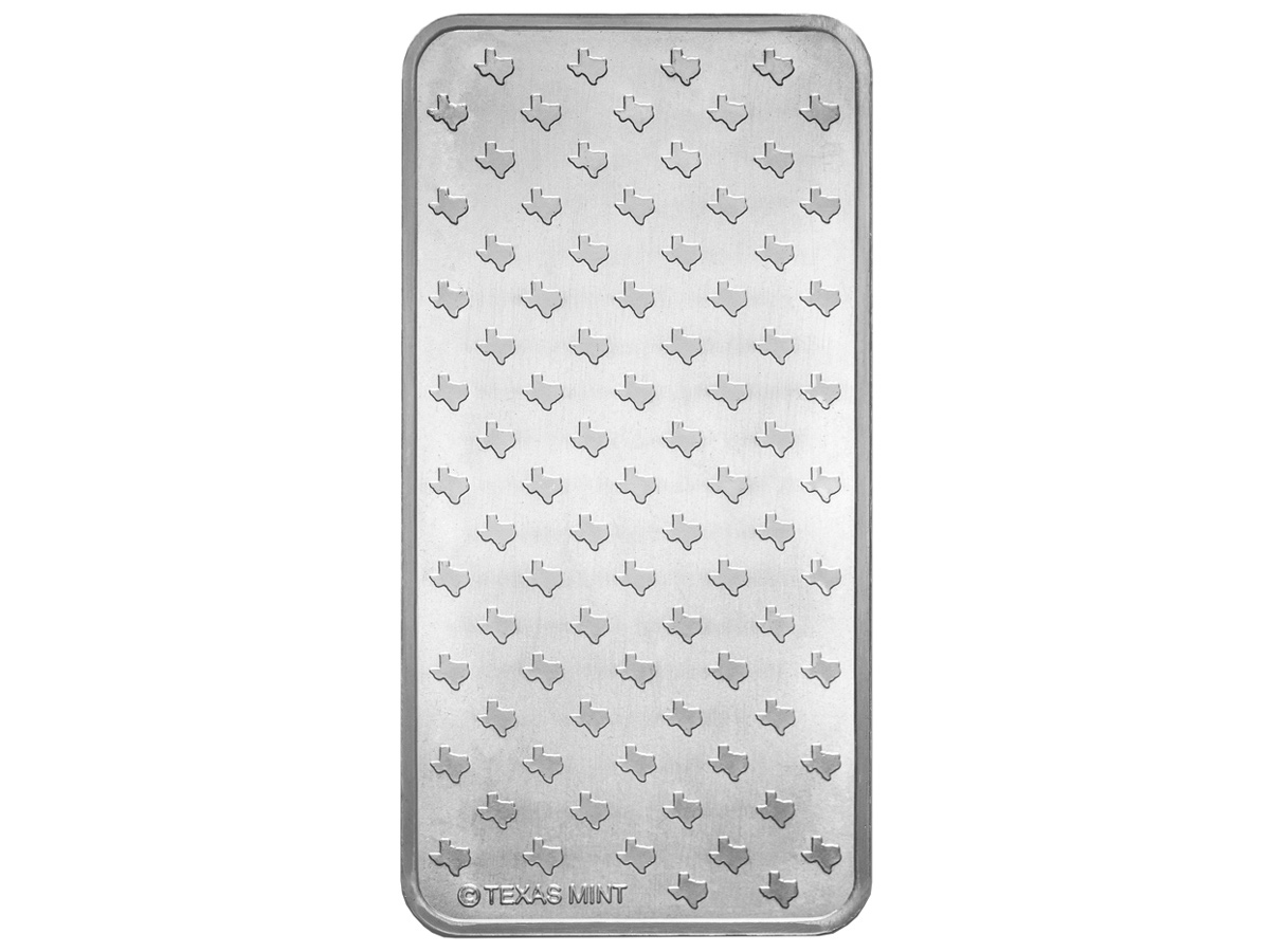 10 oz Silver Bar - Back