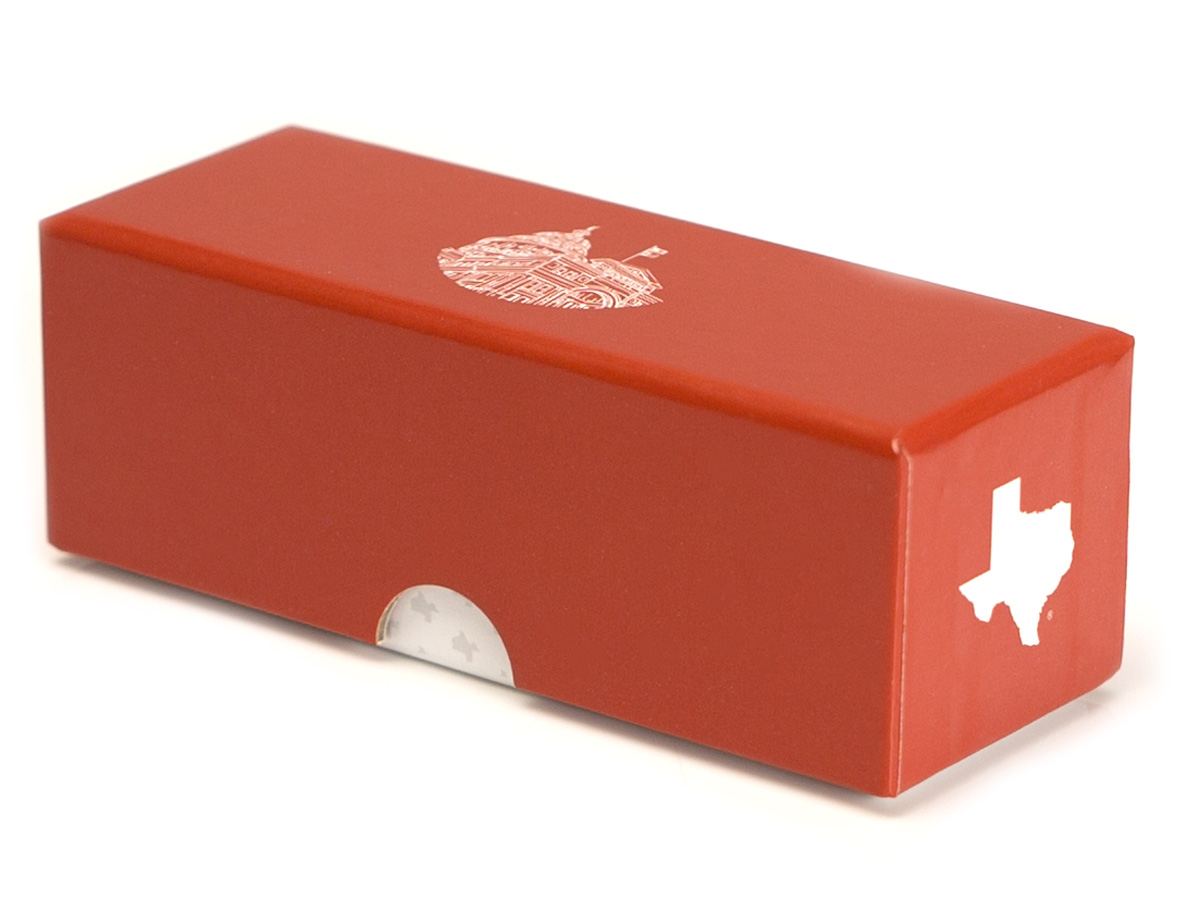 Gold Coin Box - Angle View
