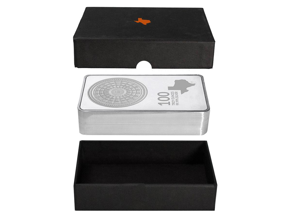 100 oz Silver Bar Box - Exploded View