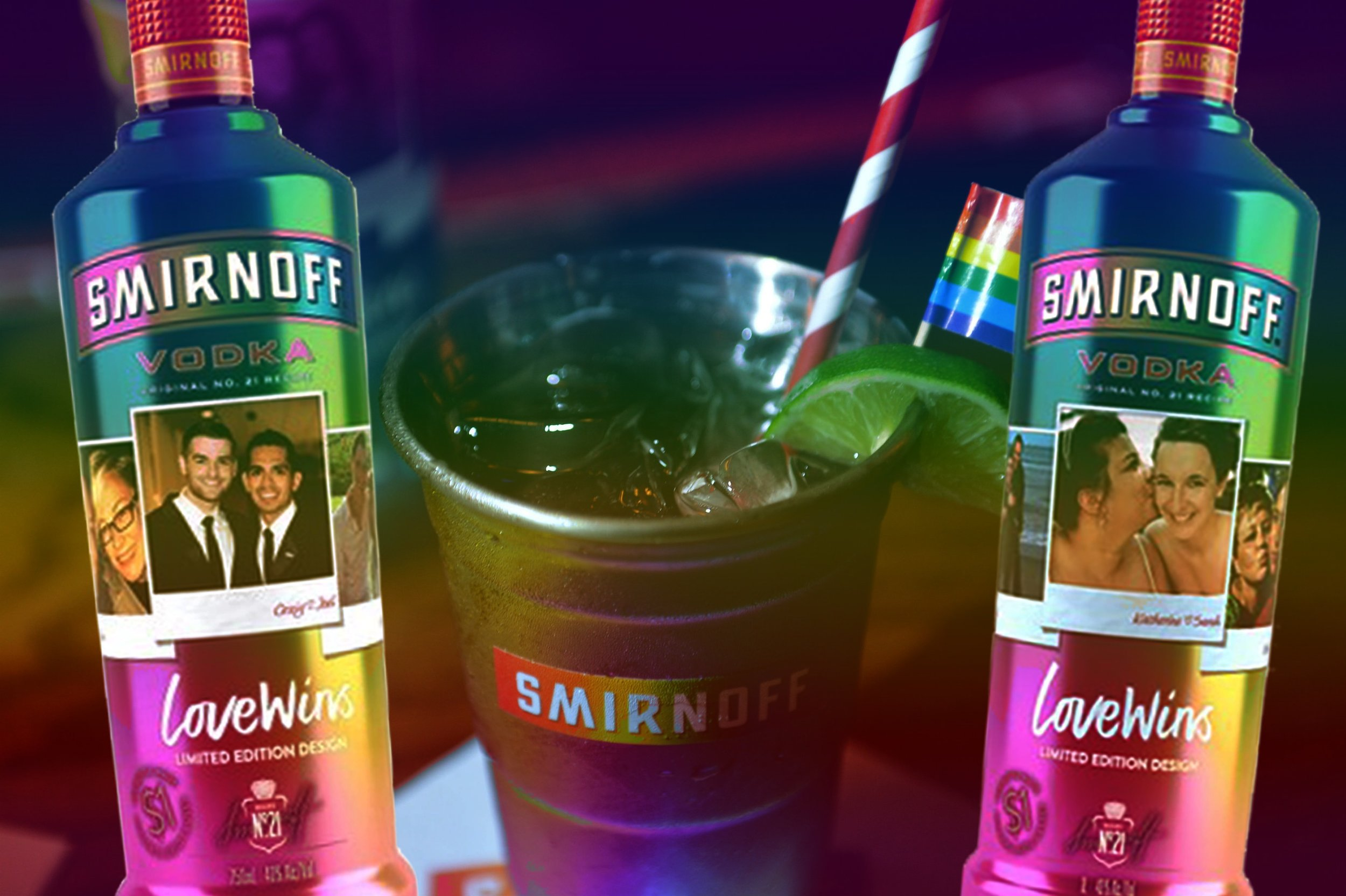 """SMIRNOFF LOVE WINS - """"Donates $1 for every """"Love Wins"""" bottle made to Human Rights Campaign for a minimum of one million dollars over 3 years."""" READ MORE🌈 DRINK AT TROUPE429 ✅"""