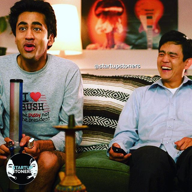 Pretty much what our Sunday looks like after a long week in Vegas. #startupstoners #haroldandkumar