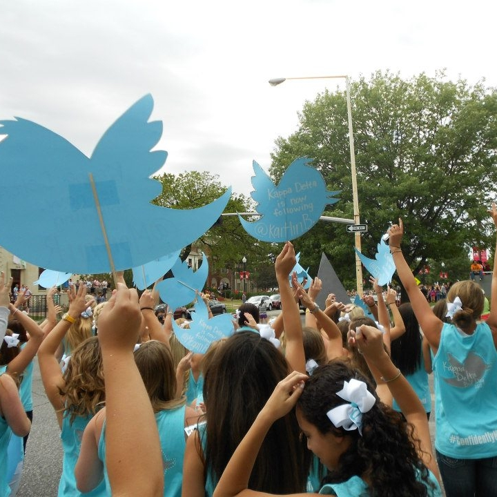 Bid day 2012. The theme was something relating to Twitter. We were very topical.