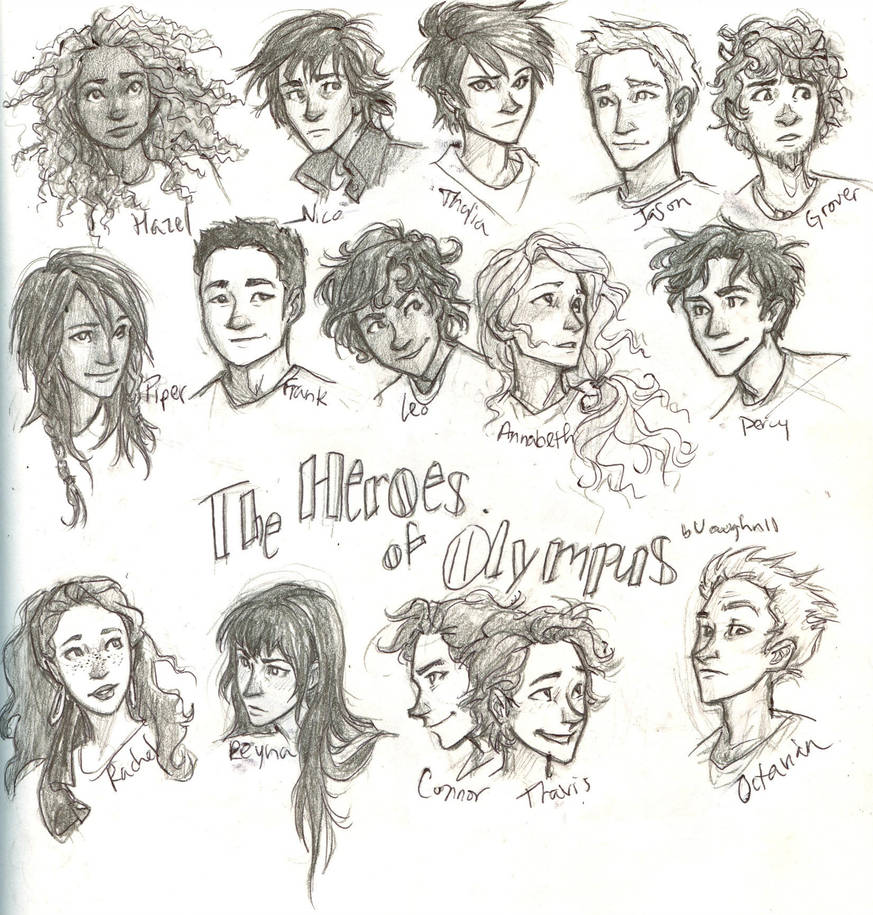 Characters in Percy Jackson series  Credit:  Burdge