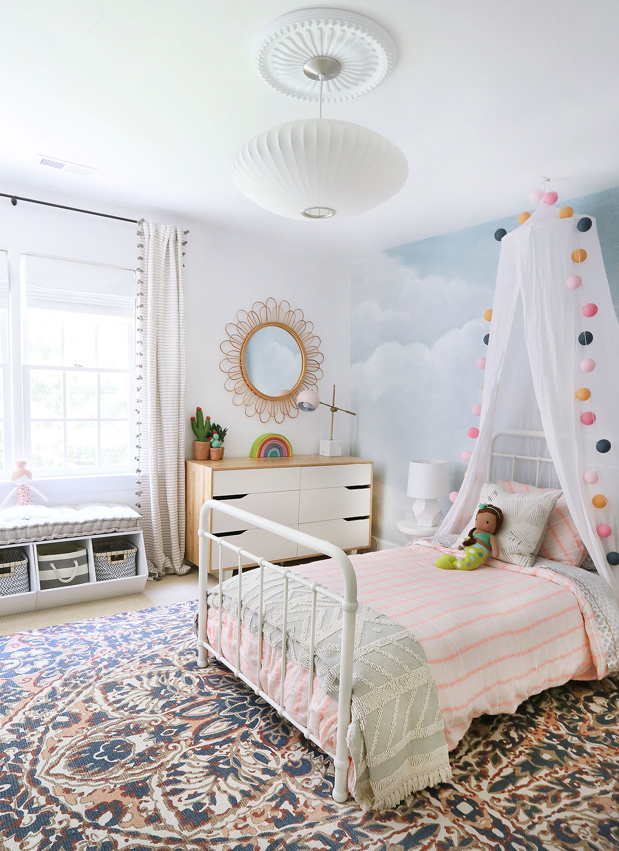 A Whimsical & Happy Big Girl Room — Sunny Circle Studio