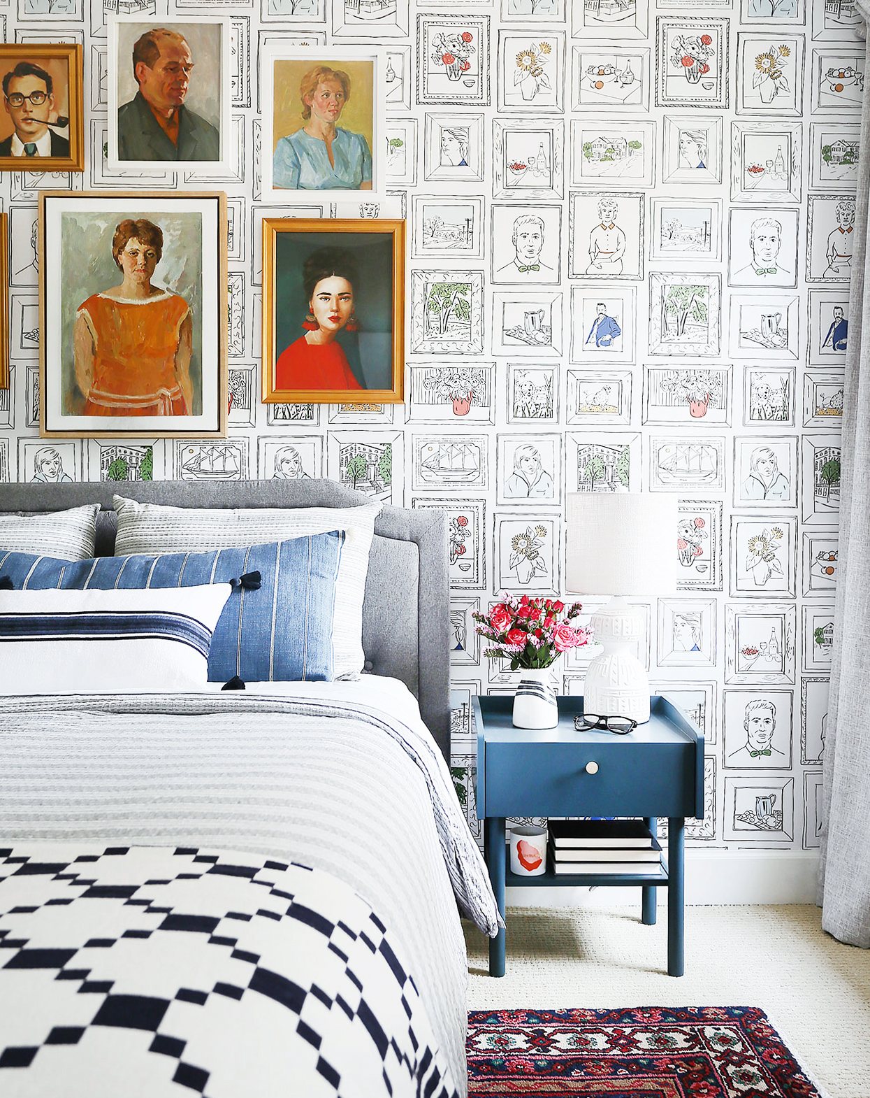 A BOLD & QUIRKY GUEST ROOM