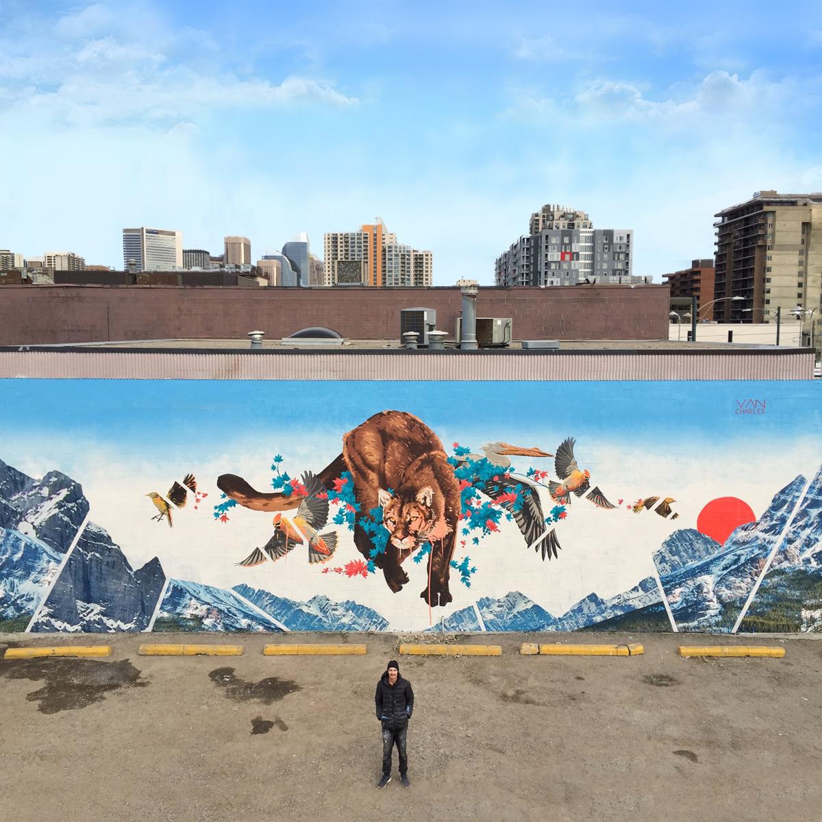 van charles artwork - beltline mural project