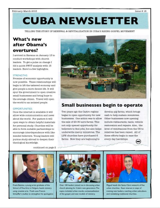 Cuba Newsletter 2015