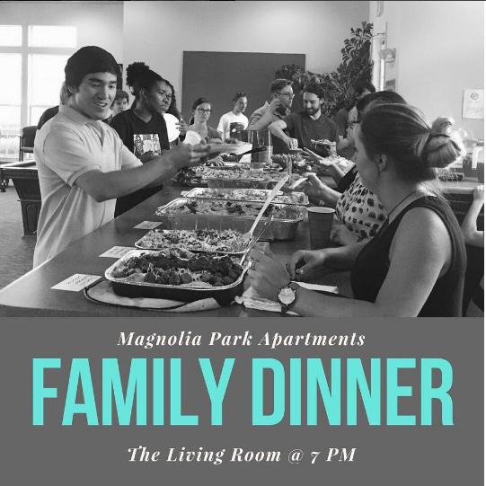 Family Dinner Past Event Magnolia Park Georgia, Off Campus Student Living Apartments, Miledgeville, GA.jpg