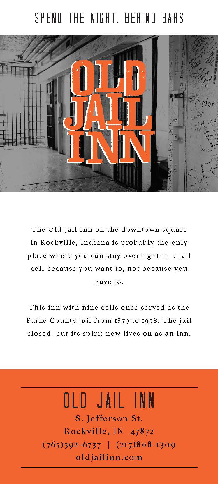 Rack Card Old Jail Inn