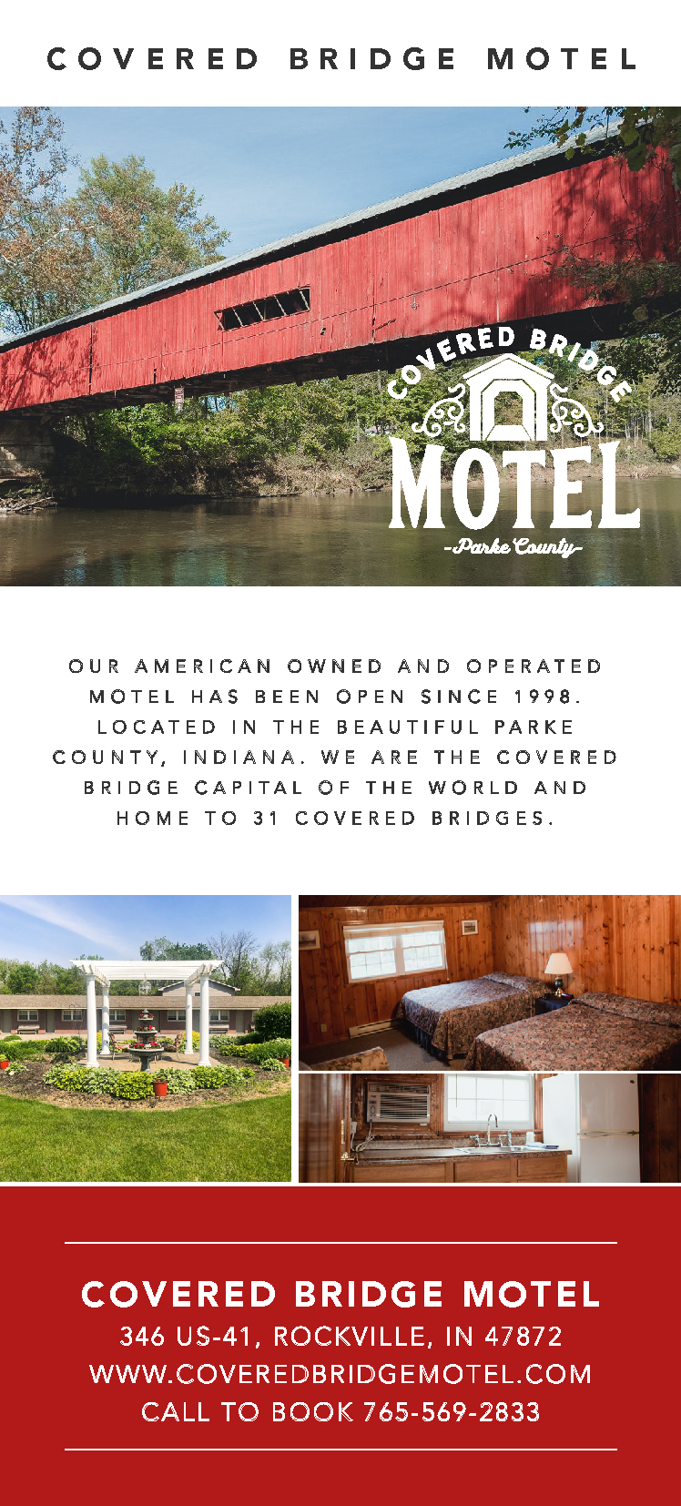 Rack Card Covered Bridge Motel