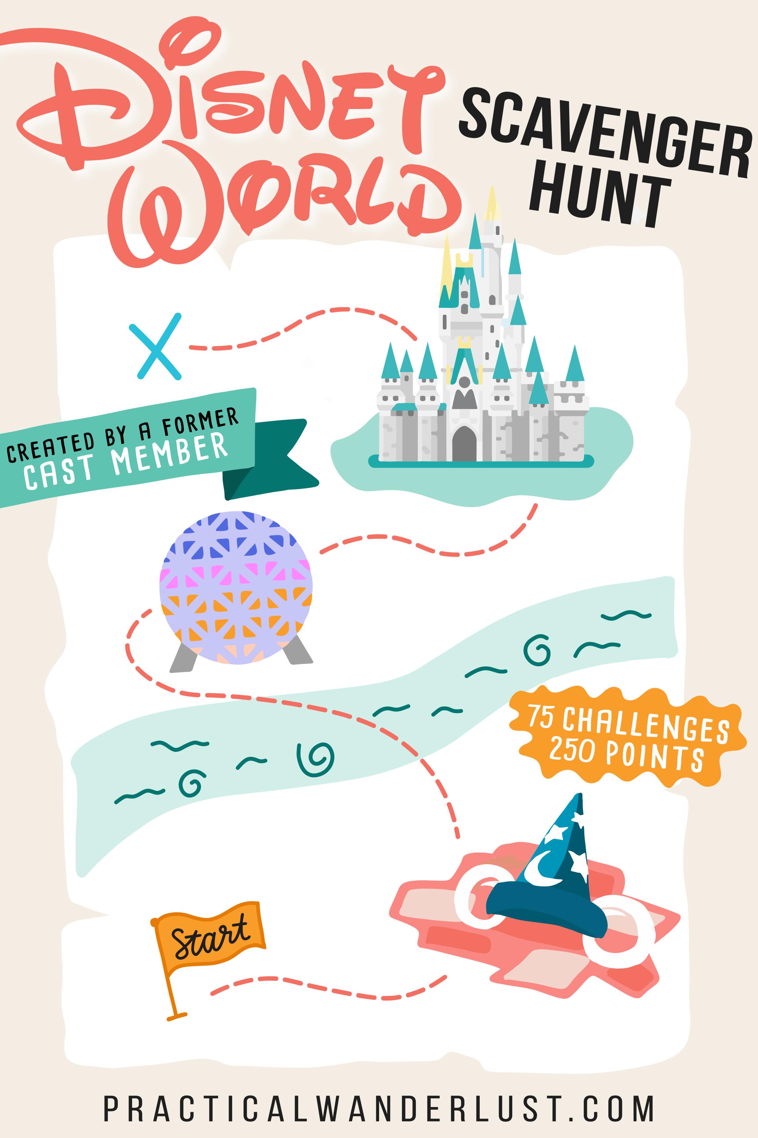 Illustrated Disney World Scavenger Hunt Practical Wanderlust