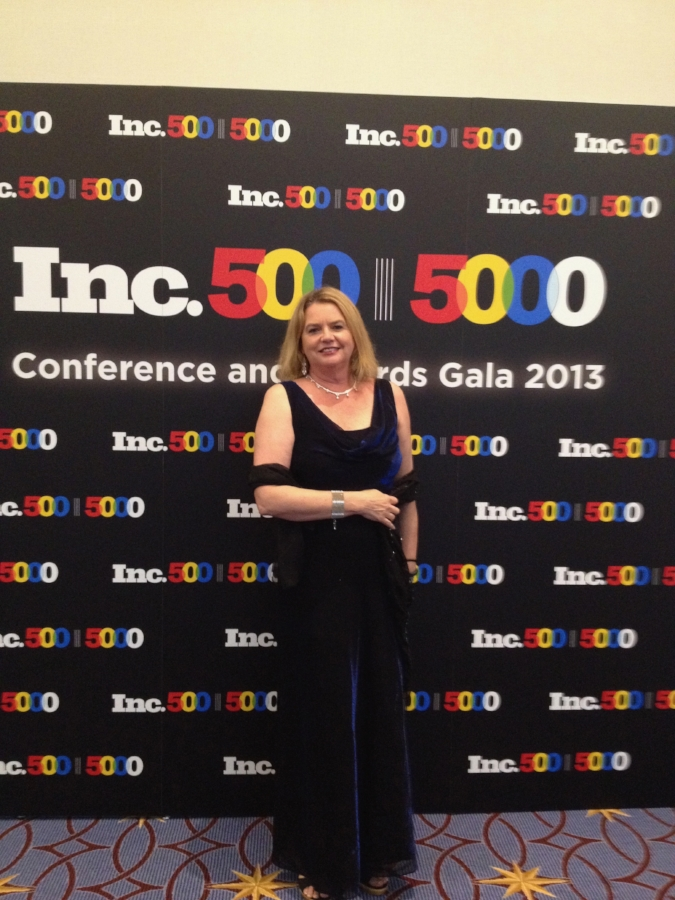 CIndy attending the Inc 500 | 5000 Conference and Gala, 2013.