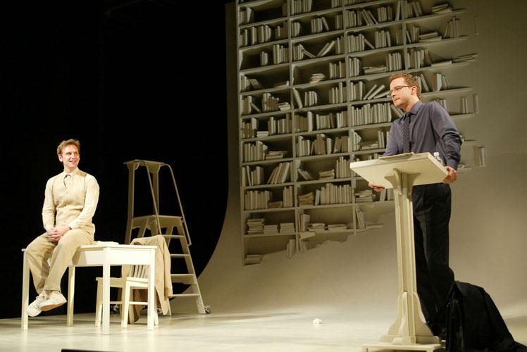Story of My Life, Broadway, Eugene O'Neill Theatre   Set Designer: Robert Brill