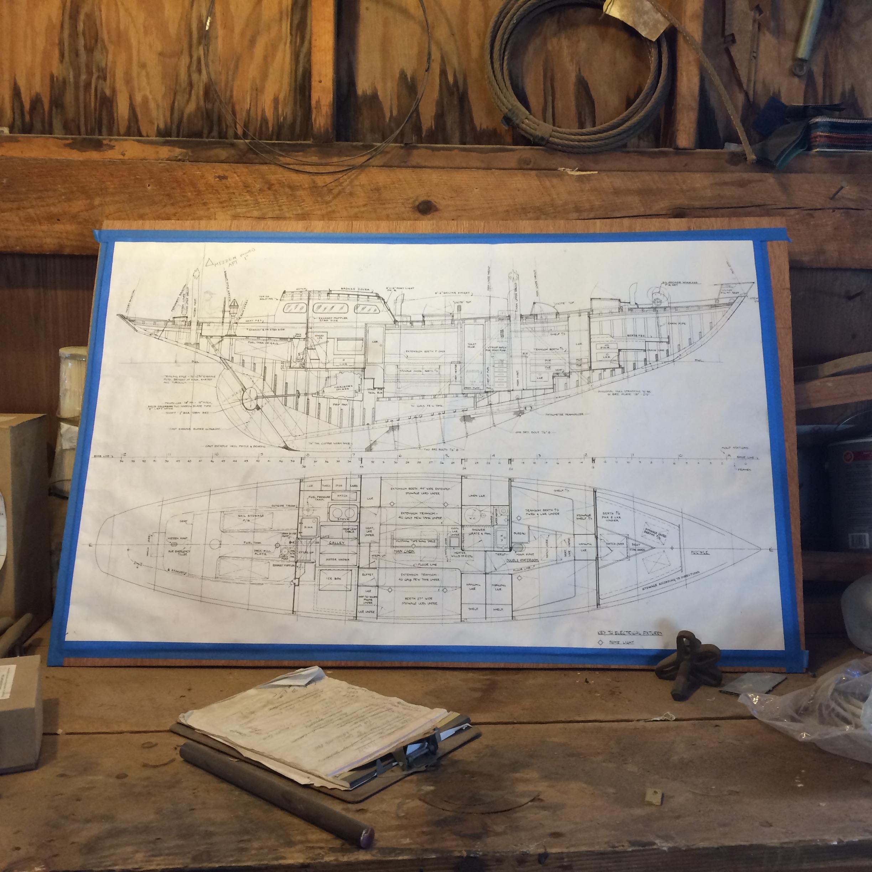 "Bermudian Yawl - LOA: 52'2″ / 15.91mLWL: 37'0″ / 11.27mBeam: 11'8″ / 3.59mDraft: 7'6"" / 2.28mDesign Number: 1261Designer: Sparkman & StephensYear Built: 1957Built By: Cheoy Lee Shipyard, Hong KongHull Material: WoodGross Displacement: 38,100 lbsBallast: Outside 14,500 lbs – Inside 500 lbsSail Area: 1,253 sq ft"
