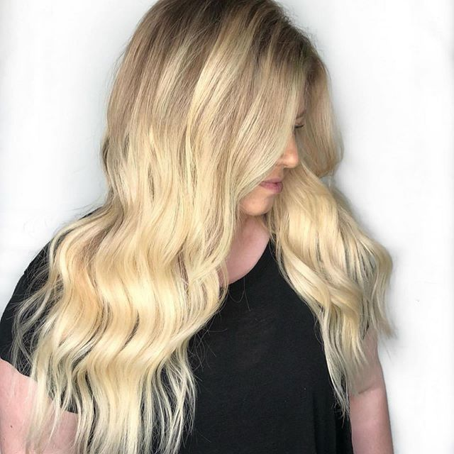 "Who can agree 20"" never hurt anyone 🙋🏼‍♀️🙋🏻‍♀️🙋🏾‍♀️ a #bespokebabe for sure! . . Ready to be one yourself? Call 573-442-8664 for your complementary consultation @bellamihair . @nicole_bespokebeauty #blondehair #hairextensions #columbiamo #missouri"