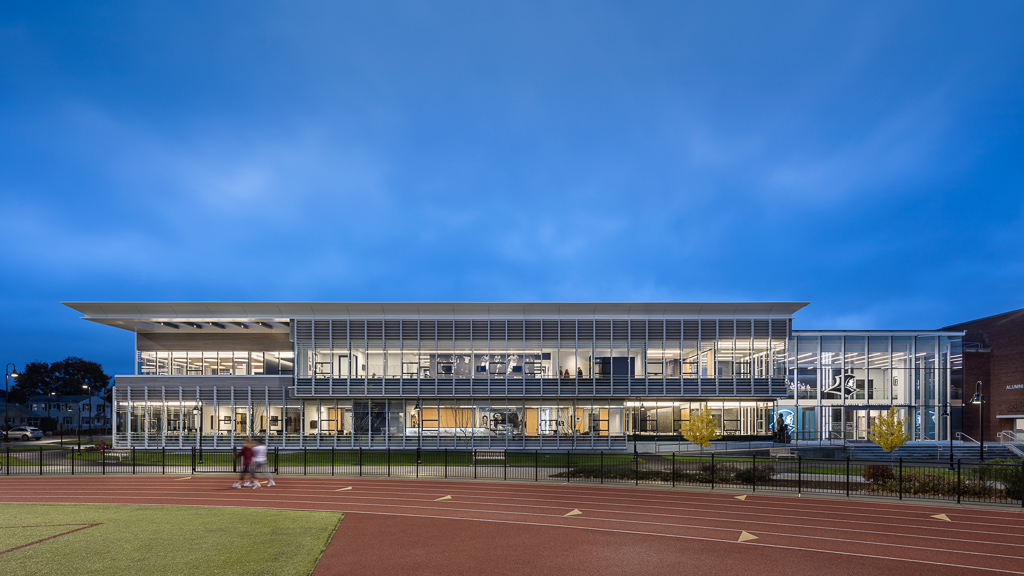 Providence College - Friar Development Center_Ext Elevation South Dusk_Copyright Andrew Rugge.jpg