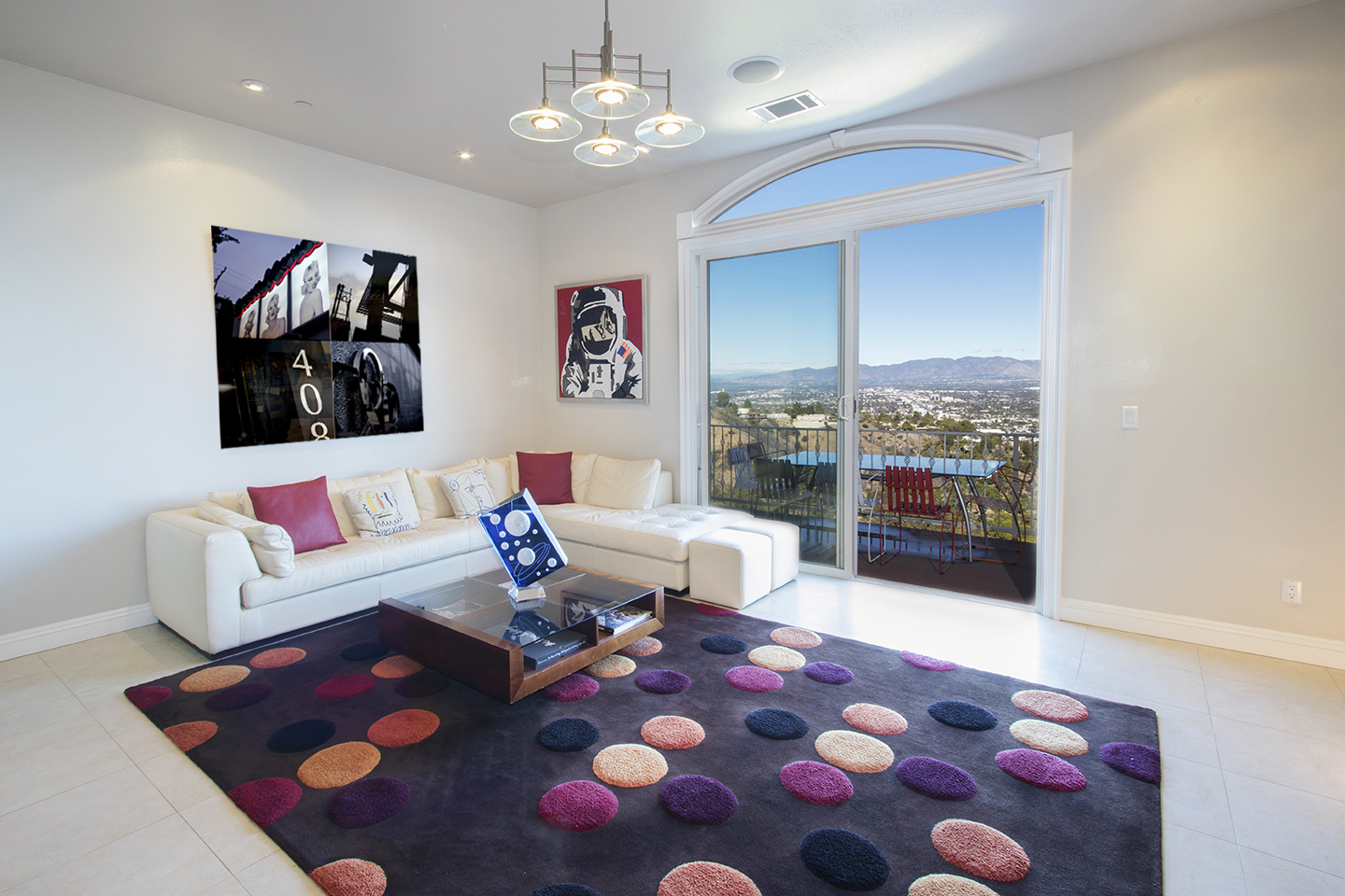 """My piece """"408"""" hanging next to an original Warhol print on Mulholland Ave. in L.A."""