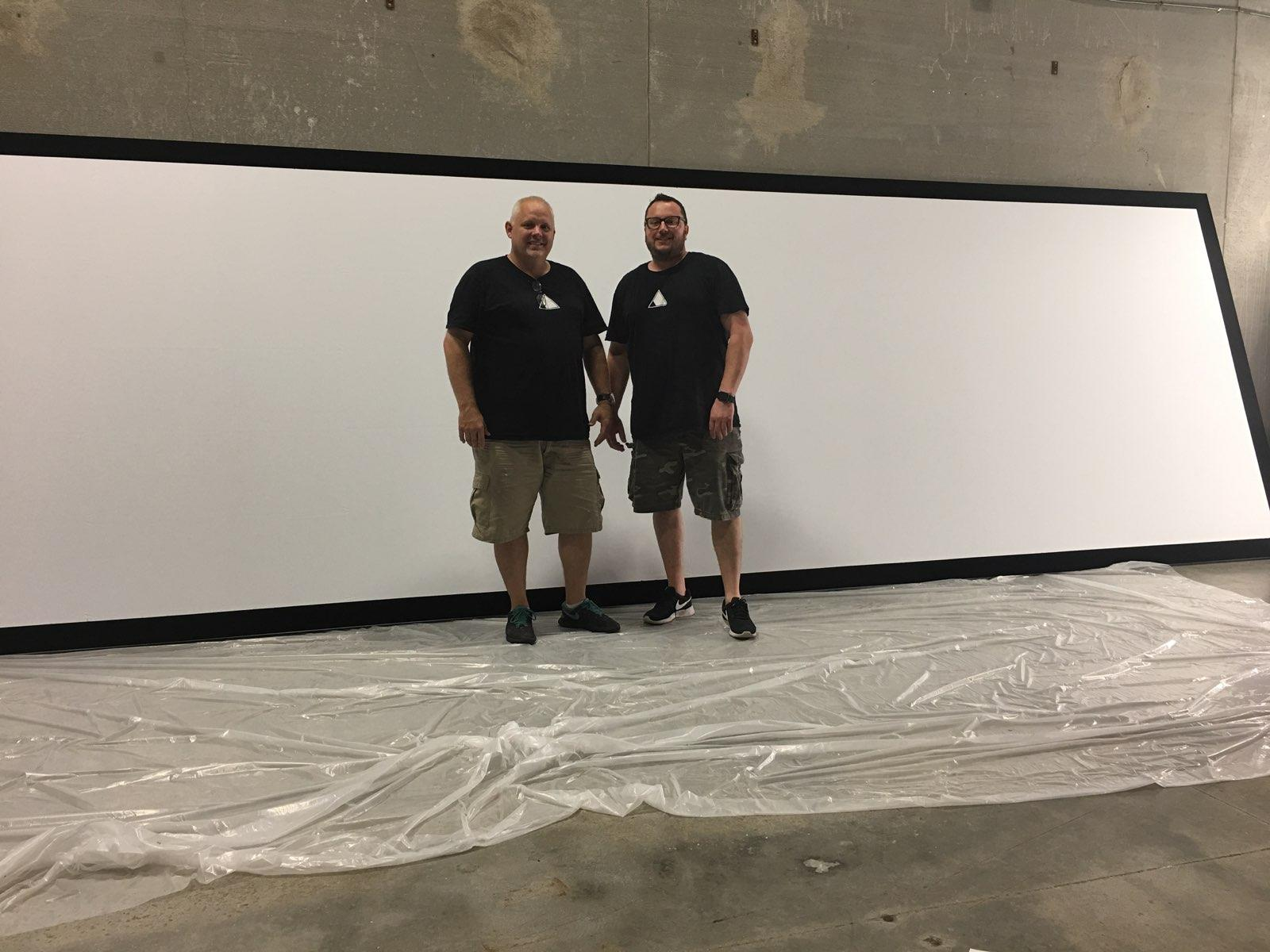 Projection Screen Installation