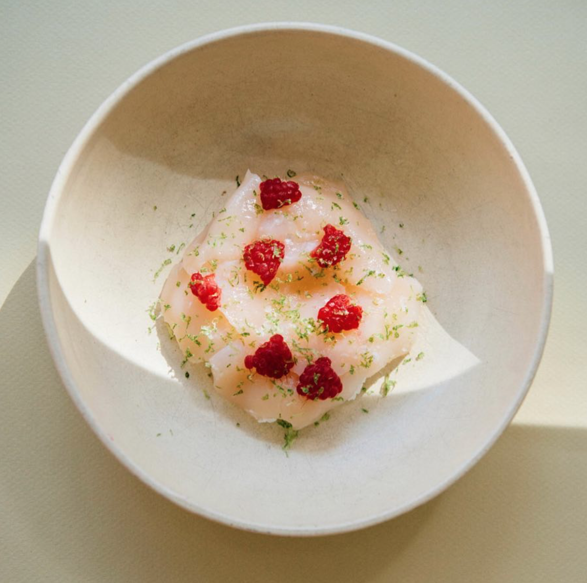 Lime Coconut Cheese + Scallop Crudo