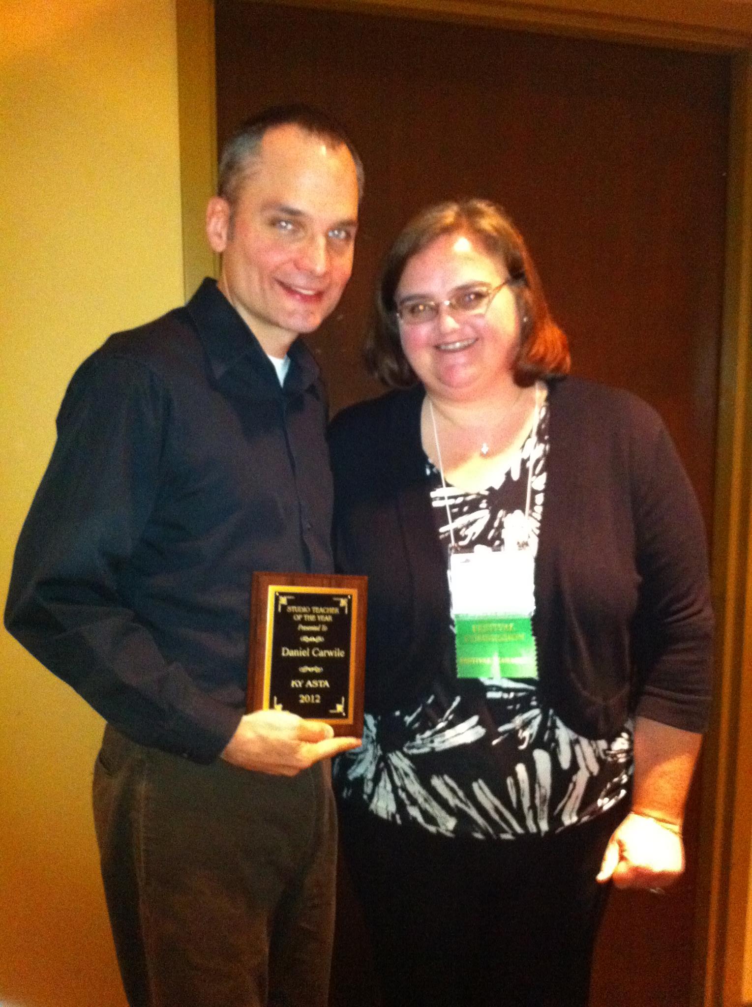 Daniel - Kentucky Studio Teacher of the Year by the American String Teacher Association