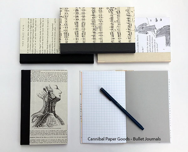 Customizable Bullet Journals with covers featuring some of our favorite books.