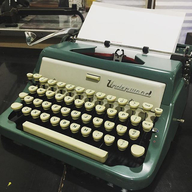 How about a week of typewriters?! This little Underwood was our first summer find, from a yard sale right in our own neighborhood. 💌