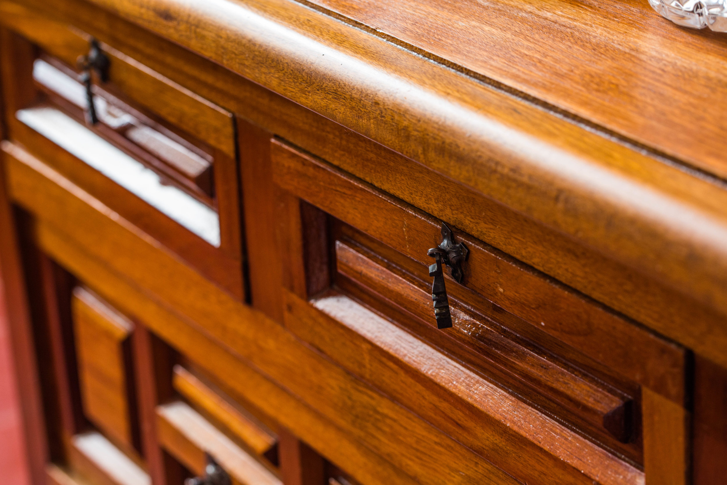 Hand-Carved Wood Furniture Detail