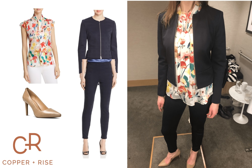 Spring Work Look - Spring has sprung! Embrace the print of the season with this light and airy floral work look.Click on the image to view the lookbook and purchase any of the items.