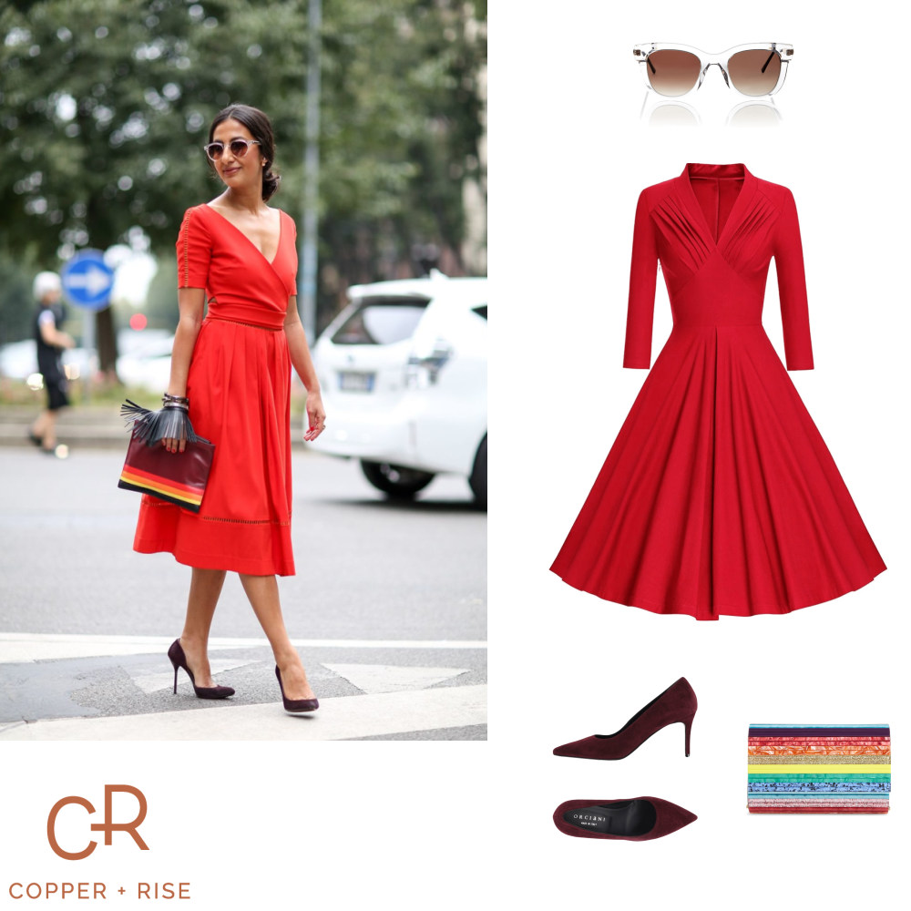 Little Red Dress - Move over, little black dress. The little red dress is here. Many people save their red clothing for the holiday season, but these sophisticated shades want to be worn year round.Click on the image to view the lookbook and purchase any of the items.