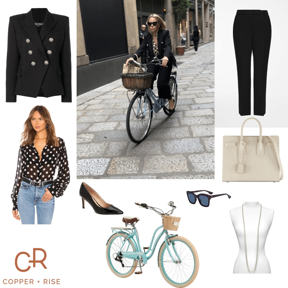 Milanese Woman on Bicycle -